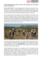 Ground Engineering Offer Cost Effective Soil Testings and Soil Investigations.pdf