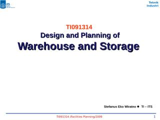 PF#10 Storage and Warehouse.ppt