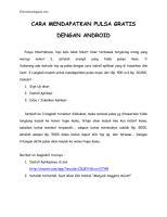 CARA MENDAPATKAN PULSA GRATIS DENGAN ANDROID.pdf