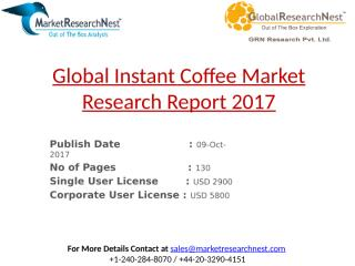 Global Instant Coffee Market Research Report 2017.pptx