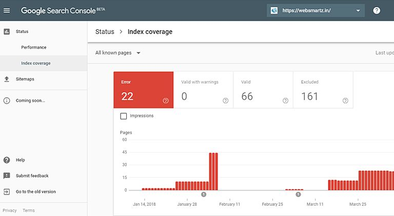 Fix Index coverage issues detected in Google Search Console