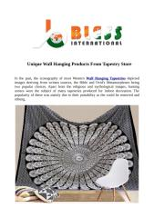 Unique Wall Hanging Products From Tapestry Store.pdf