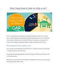 How long does it take to ship a car.pdf
