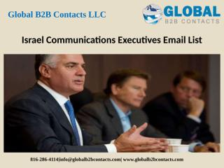 Israel Communications Executives Email List.pptx
