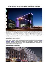 Why You Will Move To Croydon- Check the Reasons.pdf