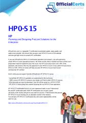HP0-S15 Planning and Designing ProLiant Solutions for the Enterprise.pdf