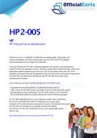 HP2-005 HP ProLiant Server Maintenance.pdf