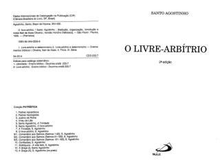 O Livre Arbítrio - Santo Agostinho (obrascatolicas.com).pdf