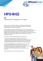 HP0-W02 Implementing HP StorageWorks EVA Solutions.pdf