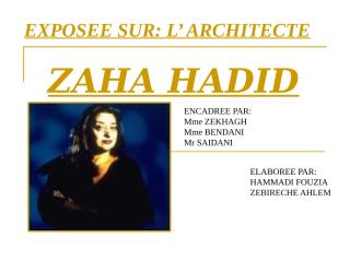 zaha hadid final.ppt