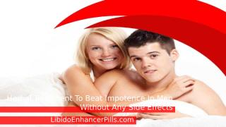 Herbal Treatment To Beat Impotence In Men Without Any Side Effects.pptx