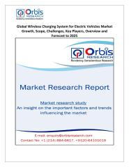 Global Wireless Charging System for Electric Vehicles Market Growth, Scope, Challenges, Key Players, Overview and Forecast to 2025.pdf